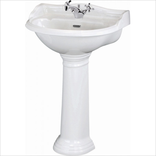 Hudson reed - Chancery 500mm 1TH Basin & Pedestal