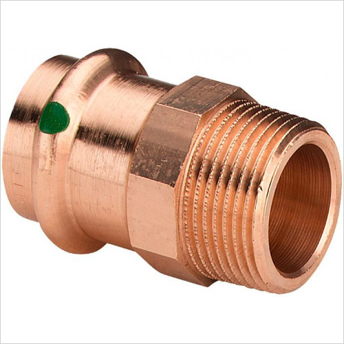 Abacus - Sanpress Pipe Connector 15mmS C to Male 1/2'' R Thread