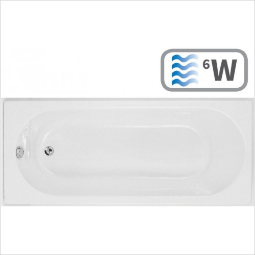 Moods - Cascade Supercast Single End 1700 x 750mm 0TH Bath