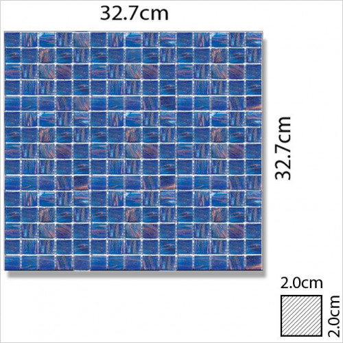 Abacus - Glass Square Mosaic Tile 32.7 x 32.7cm, 1 Sheet B1010