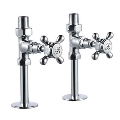 Burlington - Bathrooms - Chrome Straight Radiator Valves With Cross Heads (pair)