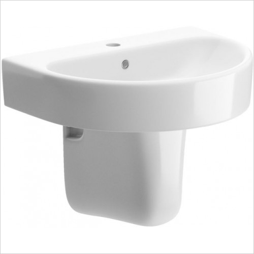 Moods - Cilantro Basin & Semi Pedestal 555mm 1TH