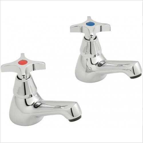 Vado - Bathrooms - Astra Basin Pillar Taps CD Valve 1/2'' With Cross Handle