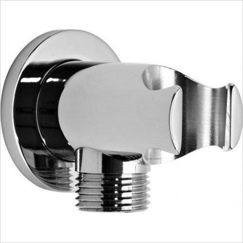 Roper Rhodes Showers - Round Wall Elbow & Shower Handset Holder