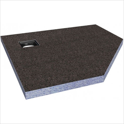 Abacus - Elements Pentangle Shower Tray 1000 x 1000mm