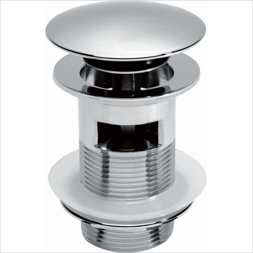 Scudo Bathrooms - Round Dome Slotted Sprung Basin Waste