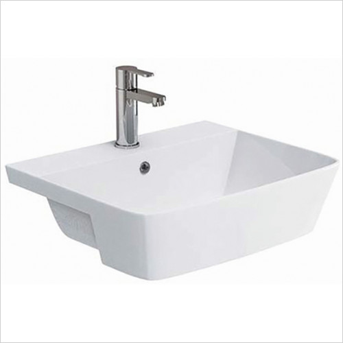 Scudo Bathrooms - Lunar Semi Recessed Basin