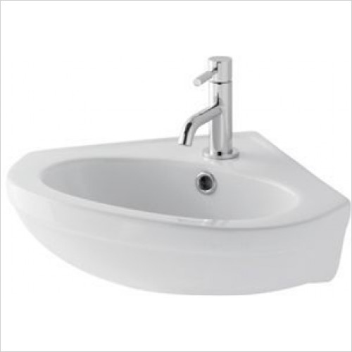 Eastbrook - Dura Corner Basin 480mm 1TH Including Fittings