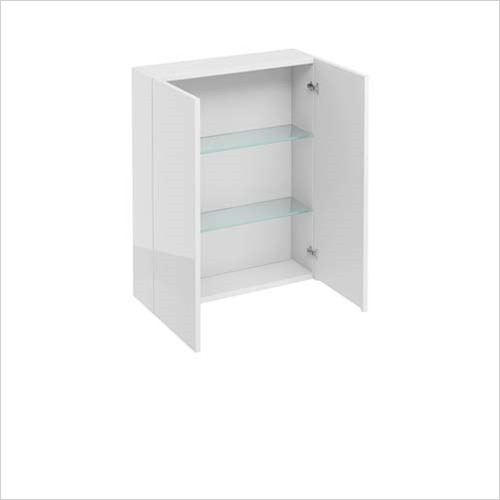 Britton Aqua Cabinets - 2 Door Wall Unit 60 x 75 x 15cm