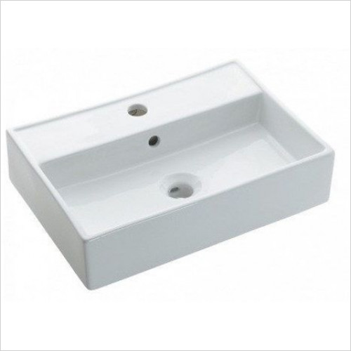 Bauhaus - Turin Wall Mounted Basin With Overflow 500mm