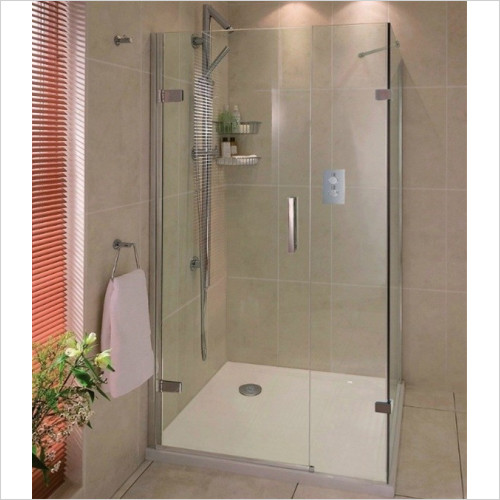 Aqata - Spectra Hinged Door In Line Side Screen 900x800mm LHC