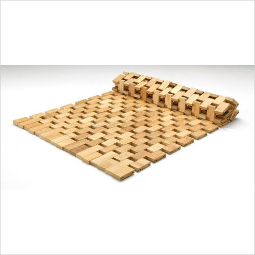 sagittarius - Rectangular Bamboo Bath Mat, 600x350mm