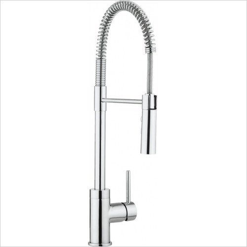 Crosswater - Bathrooms - Cook Side Lever Kitchen Mixer With Flexi Spray