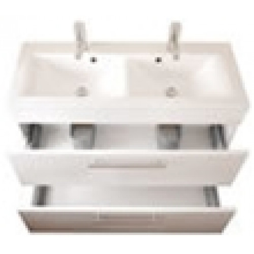Aqs Bathrooms Online Store Eastbrook Oslo Cast Top Double Bowl Vanity Basin 1000mm 1th