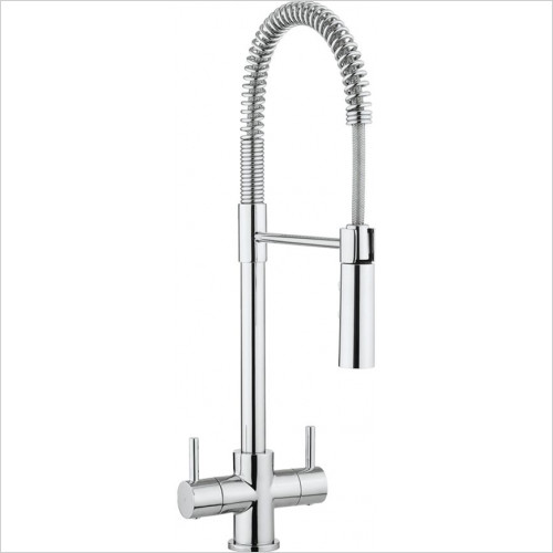 Crosswater - Bathrooms - Cook Dual Control Kitchen Mixer With Flexi Spray