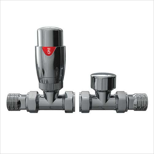 Redroom - Straight Thermostatic Valve Pack
