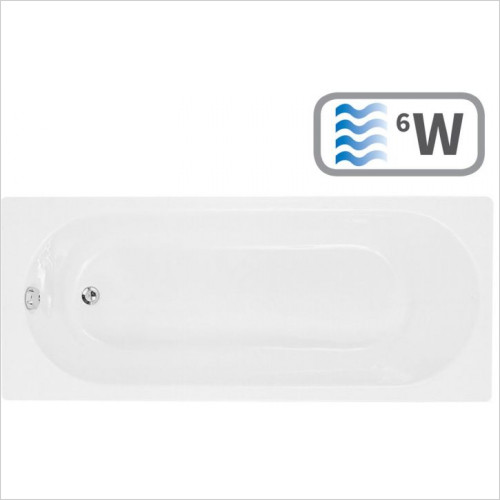 Moods - Cascade Supercast Single End 1700 x 700mm 0TH Bath
