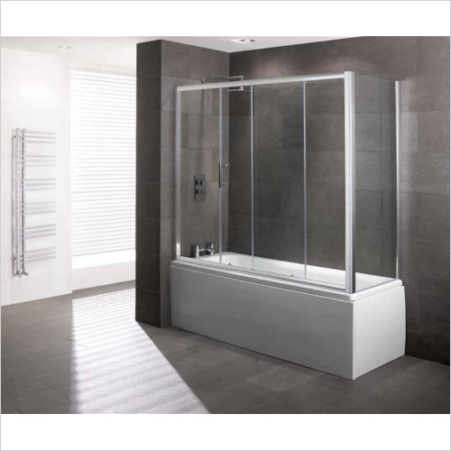 Eastbrook - Volente Over Bath Slider Door 6mm EC Glass 1690 x 1475mm