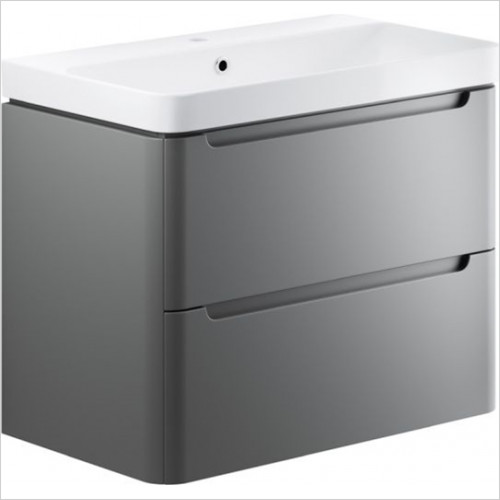 Moods - Lambra 800mm 2 Drawer Wall Hung Unit & Basin