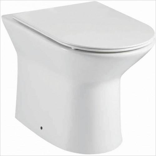 Scudo Bathrooms - Middleton Rimless Back To Wall Pan