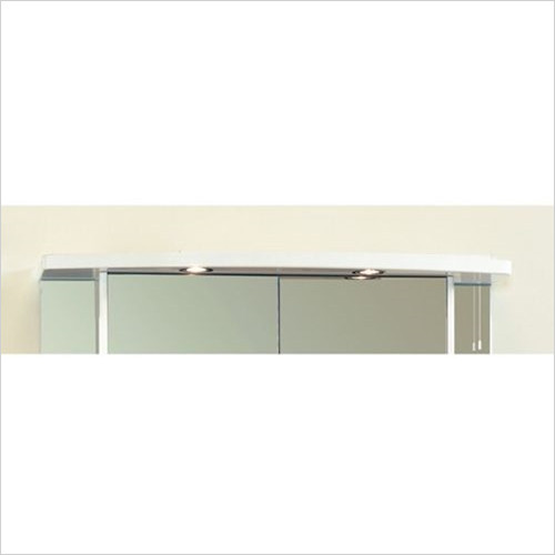 Eastbrook - 1000mm Light Cabinet Cornice, 2 Spots