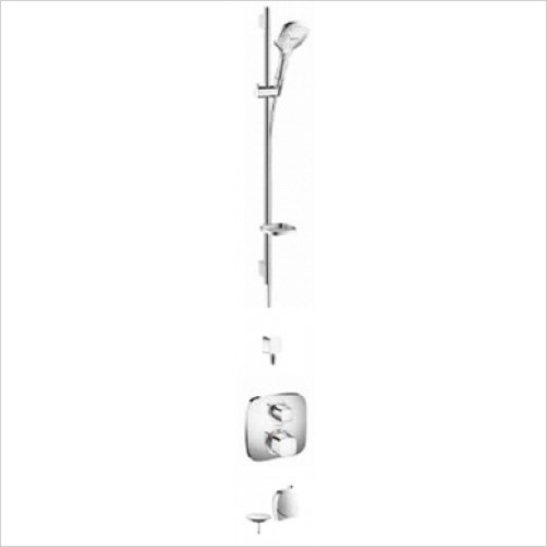 Hansgrohe - Bathrooms - Soft Cube Valve with Raindance Select Rail Kit & Exafill