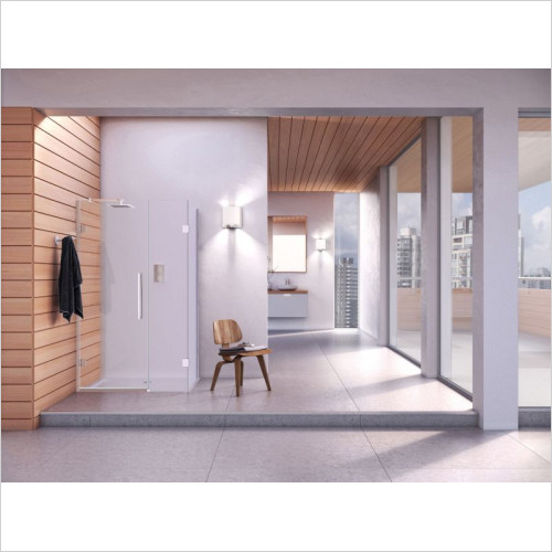 Aqata - DS458 Hinged Door Inline & S/S 1200x760mm RHC
