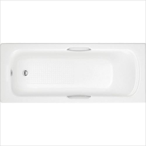 Moods - Granada II Single End Bath 1600 x 700mm Twin Grip 5mm 0TH