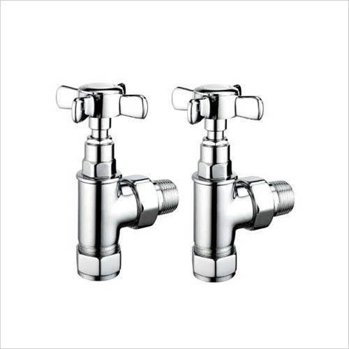 Pegler - Bathroom - Terrier Crosstop Trad. Angle Radiator Valve 15mm x 1/2''