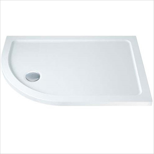 MX Trays - ABS Stone Resin Offset Quadrant Shower Tray 1000 x 800mm