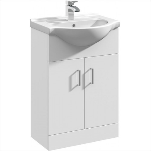 essentials - Alaska 550mm Vanity Basin Unit With 2 Doors