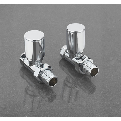 sagittarius - Pair Of Modern Straight Radiator Valves