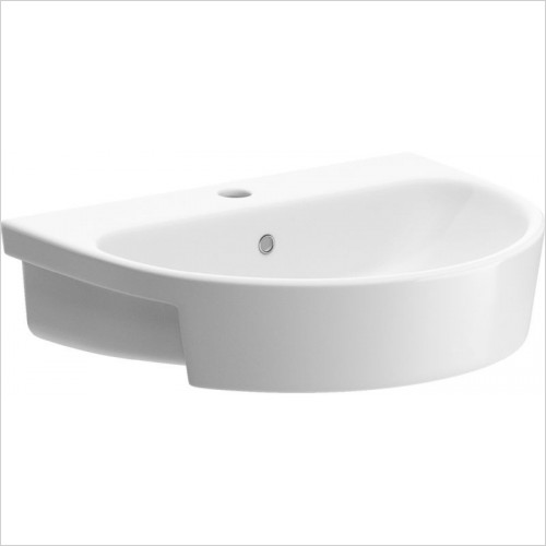 Moods - Cilantro Semi Recessed Basin 555 x 435mm 1TH