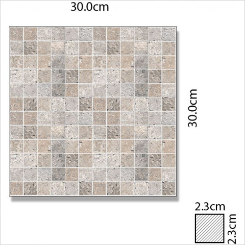 Abacus - Marble Rectangle Single Colour Small Mosaic Tile 2.3x2.3x1cm