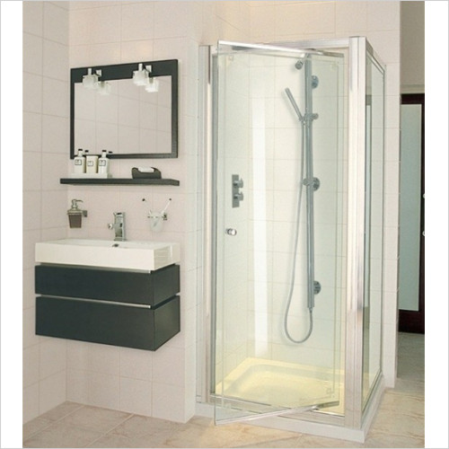 Aqata - ES Pivot Door, Corner Option 760x760mm RH