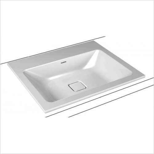 Kaldewei - Avantgarde Cono Built In Washbasin 120x50x1.4cm. 1TH