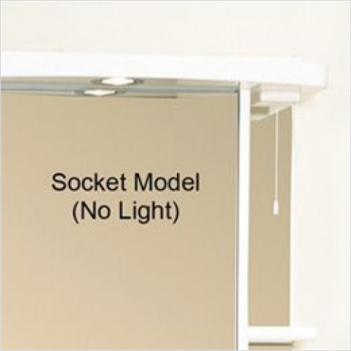 Eastbrook - 600mm Light Shaver Socket Cabinet Cornice