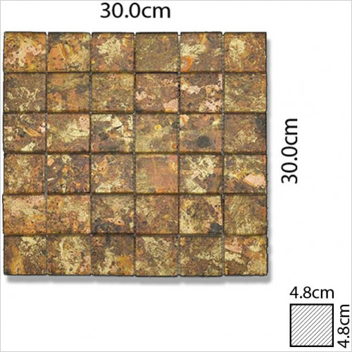 Abacus - Glass Square Mosaic Tile 30 x 30cm, 1 Sheet B1020