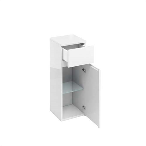 Britton Aqua Cabinets - 1 Door Base Unit With Drawer 30 x 82 x 30cm