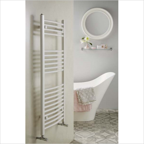 Redroom - Elan Curved Towel Warming Radiator 1200 x 600mm