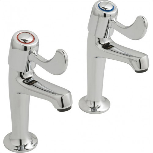 Vado - Bathrooms - Astra Kitchen Pillar Taps High Neck 1/2''