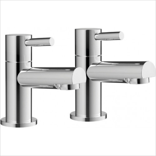 Scudo Bathrooms - Premier Basin Taps (Pair) - No Waste