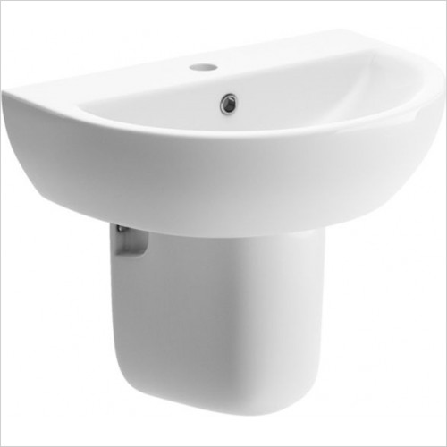 Moods - Tuscany 550mm 1TH Basin & Semi Pedestal