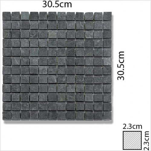 Abacus - Stone Square Mosaic Tile 30.5 x 30.5cm, 1 Sheet A1005