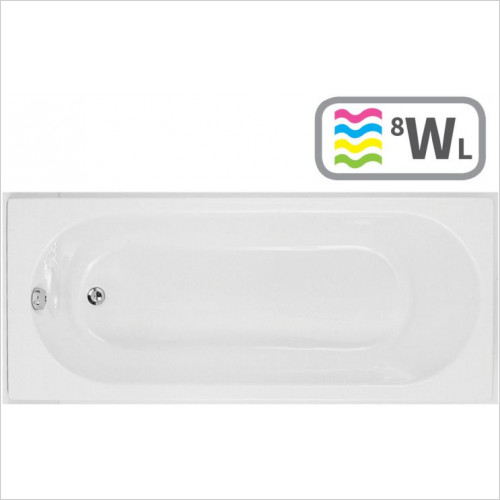 Moods - Cascade Single End 1700 x 800mm 0TH Bath
