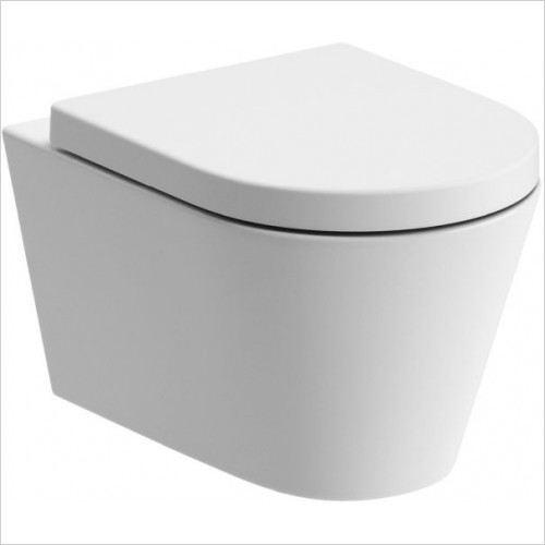 Moods - Cilantro Rimless Wall Mounted WC & Soft Close Seat