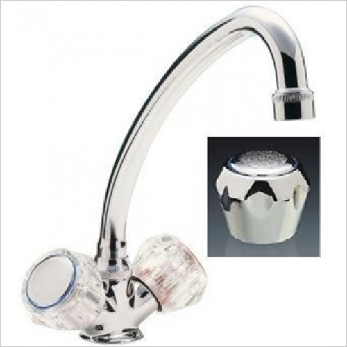 Tremercati - Capri Single Flow Sink Mixer With Swivel Spout & Italy Heads