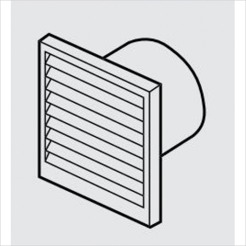 Zehnder - Fixed Blade Louvred Wall Vent