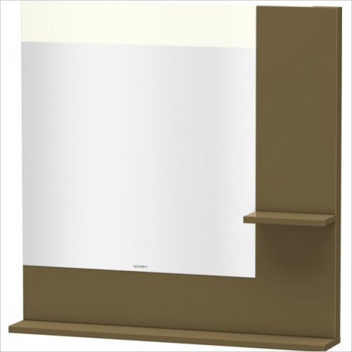 Duravit - Bathrooms - Vero Mirror With Shelves Right Side & Below 800x800x142mm