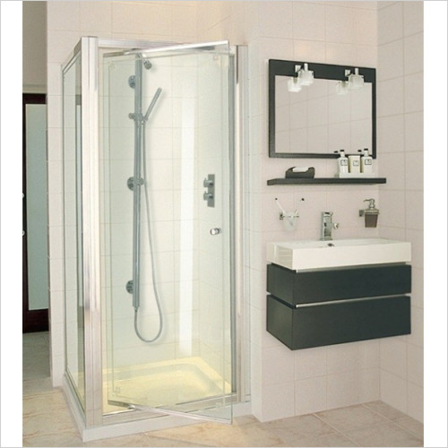 Aqata - ES Pivot Door, Corner Option 800x800mm LH
